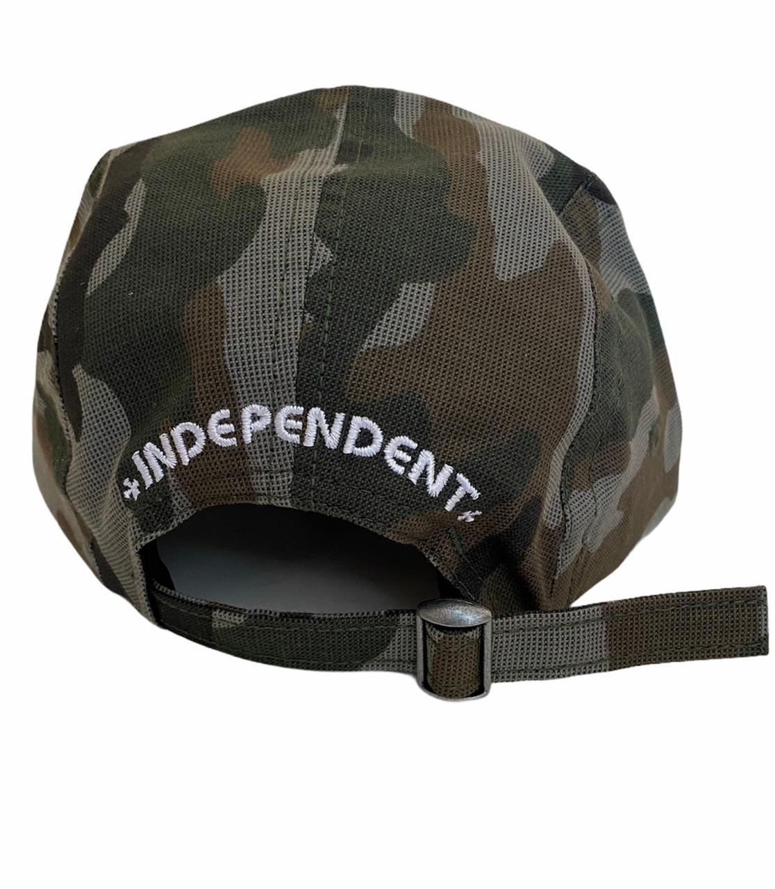 Boné Independent Cross Fivepanel Camuflado Strapback