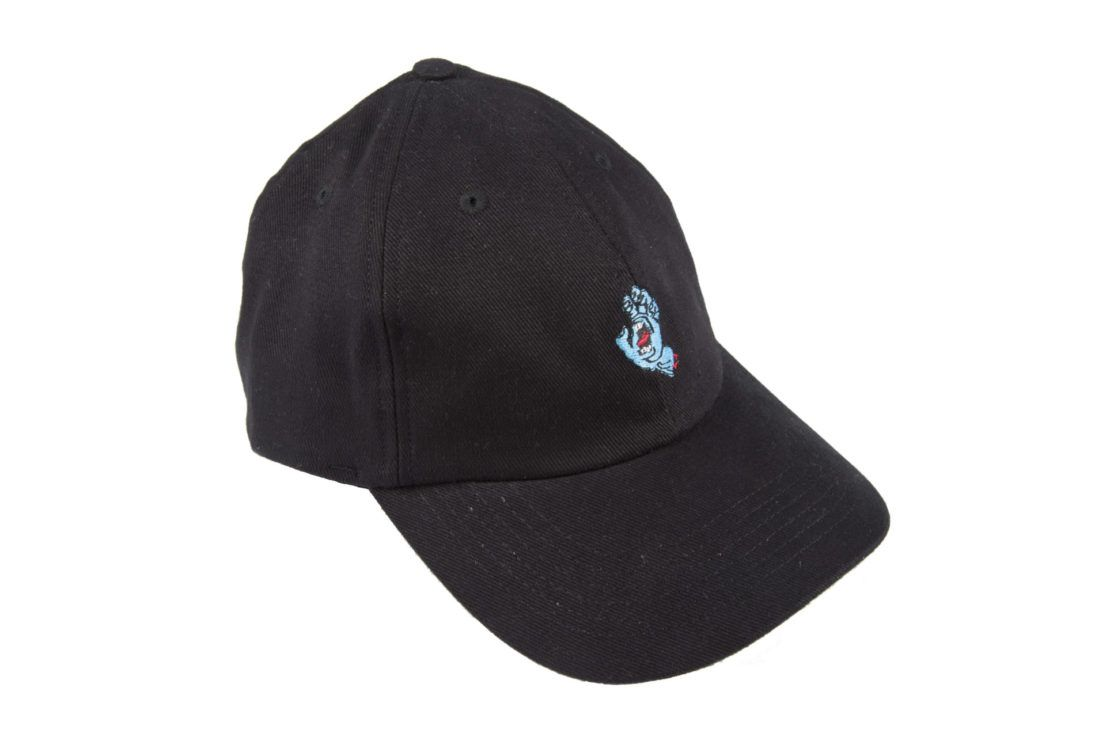 Boné Santa Cruz Screaming Hand Aba Curva Strapback Preto