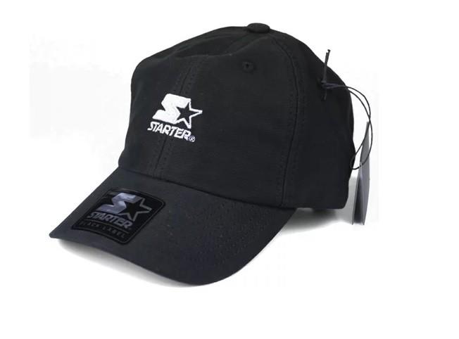Boné Starter Aba Curva Strapback Star Logo Preto