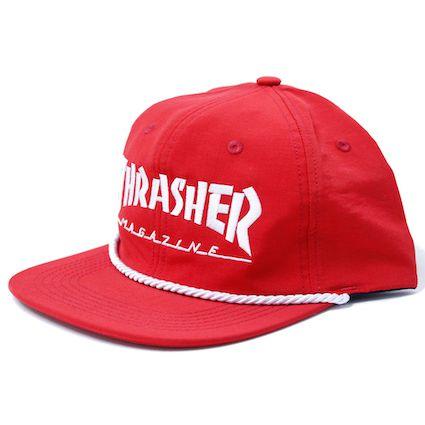 Boné Thrasher Aba Reta Mag Logo Snapback Vermelho