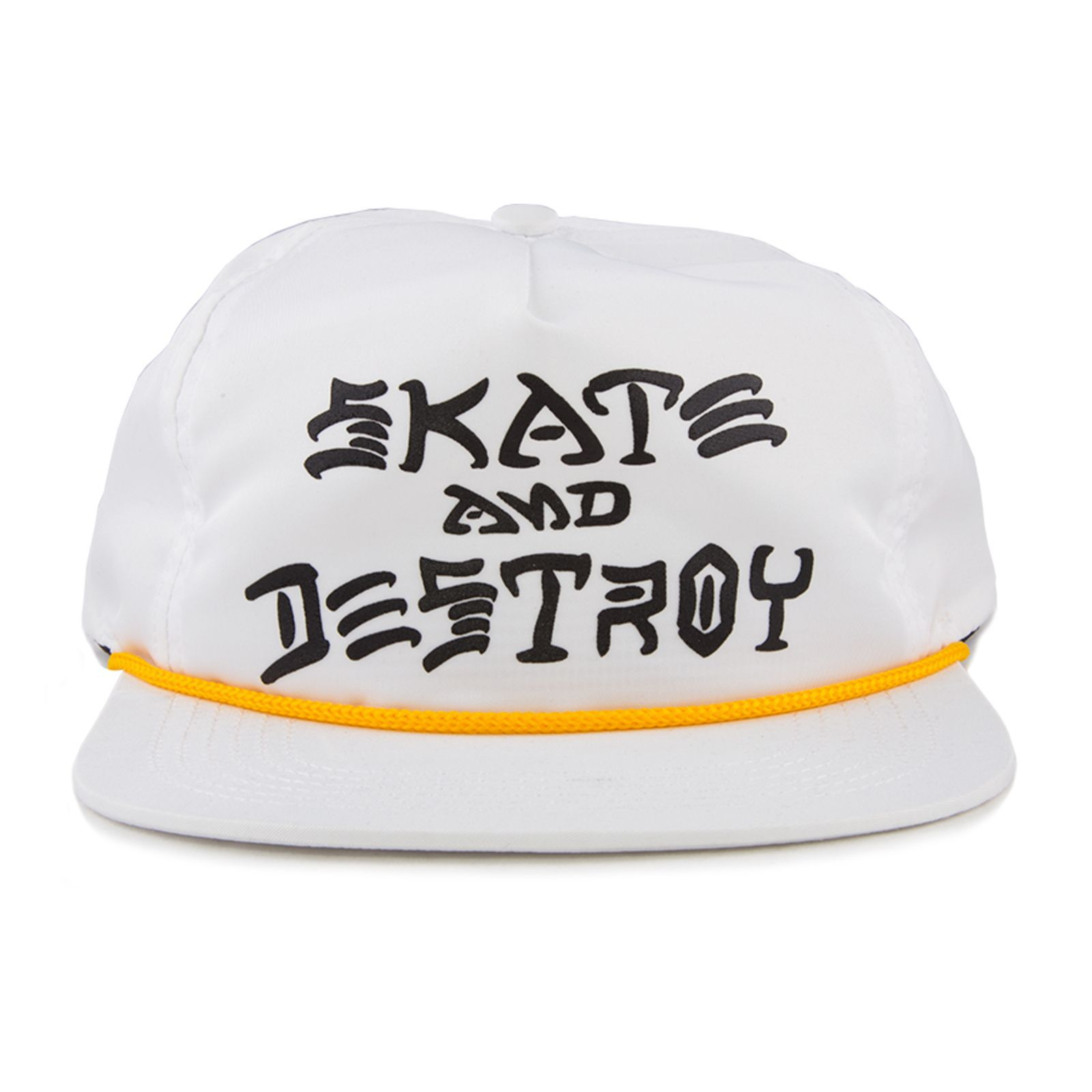 Boné Thrasher Aba Reta Skate And Destroy Snapback Branco