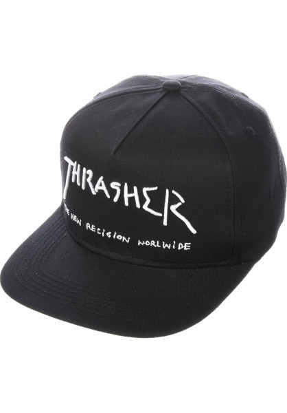 Boné Thrasher Aba Reta Snapback New Religion Preto