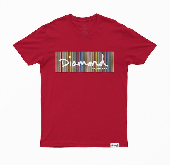 Camiseta Diamond Color Ply Vermelha