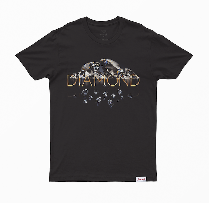 Camiseta Diamond Mirrored Preta