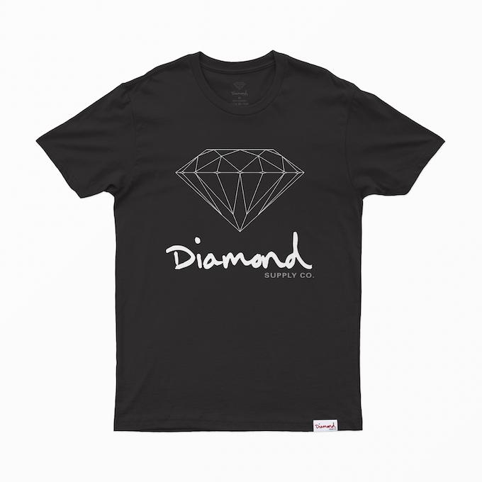 Camiseta Diamond Sign Preta