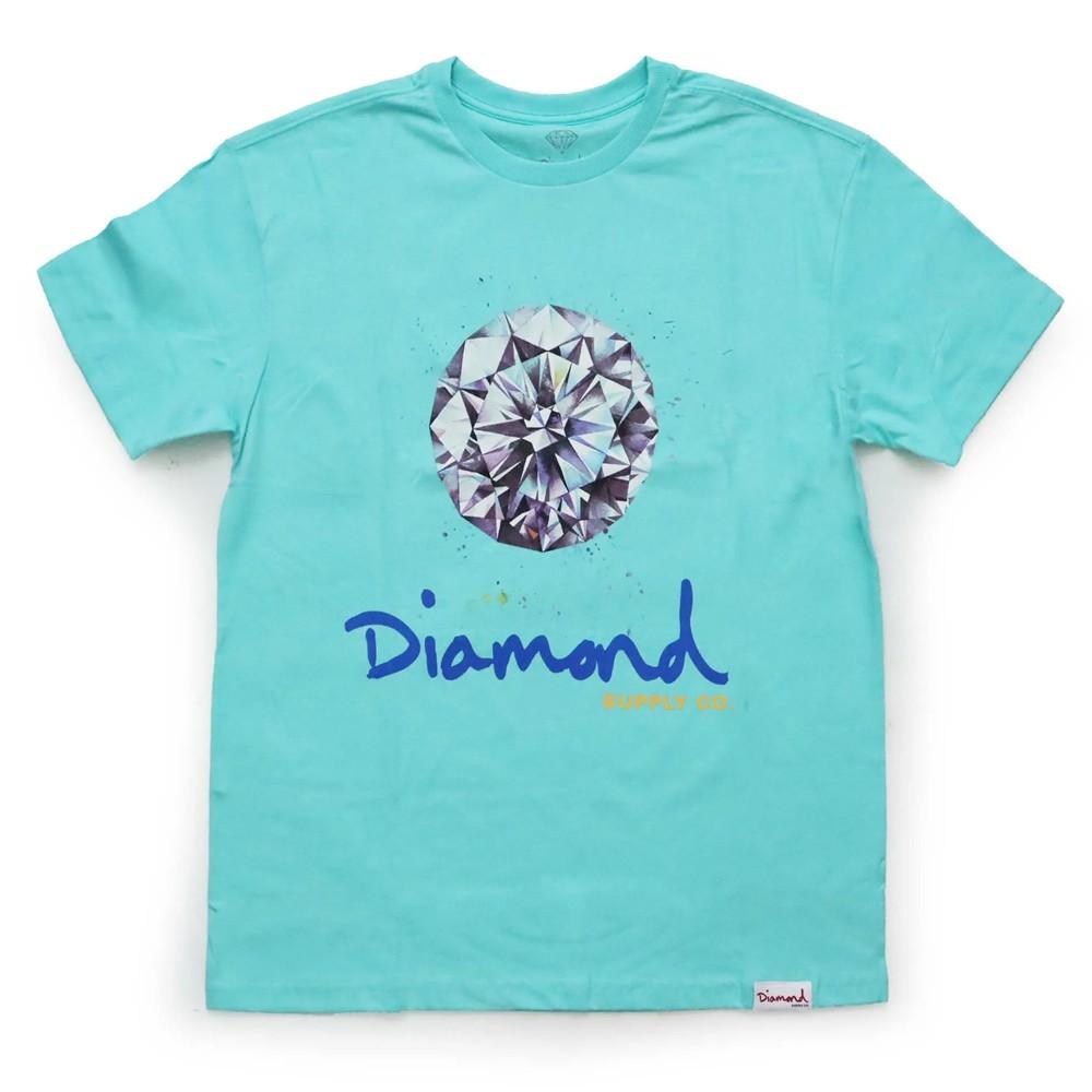 Camiseta Diamond Splash Sign Blue