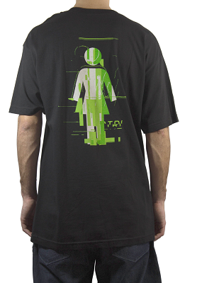 Camiseta Girl Glitch Mode Preta