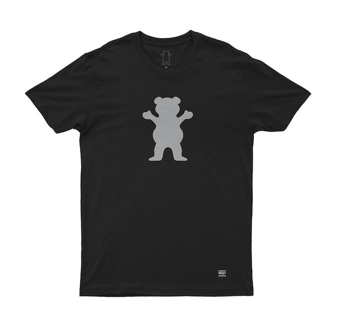 Camiseta Grizzly Bear Reflect Preta