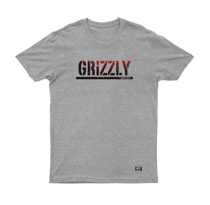 Camiseta Grizzly Fadeway Stamp Mescla