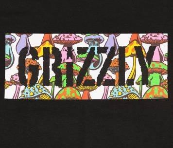 Camiseta Grizzly Fungi Box Stamp Preta