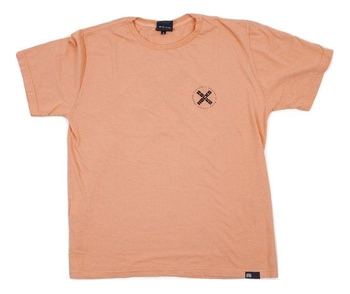 Camiseta Hocks Emblema Salmão