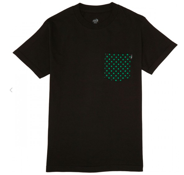 Camiseta Lakai Collab Girl Dotted Pocket Preta