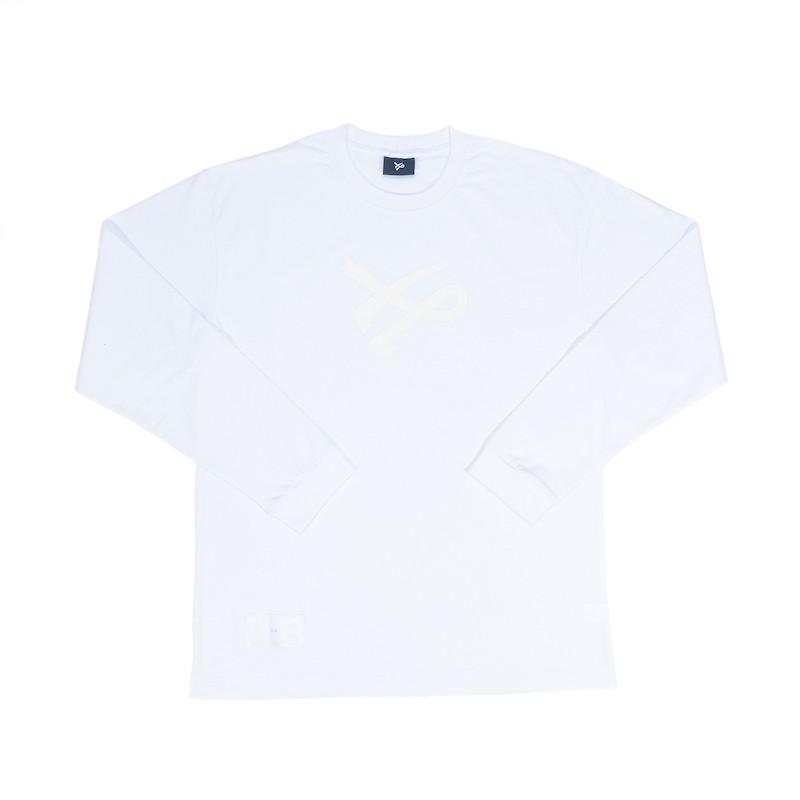 Camiseta Öus Manga Longa Feito a Mão Branco