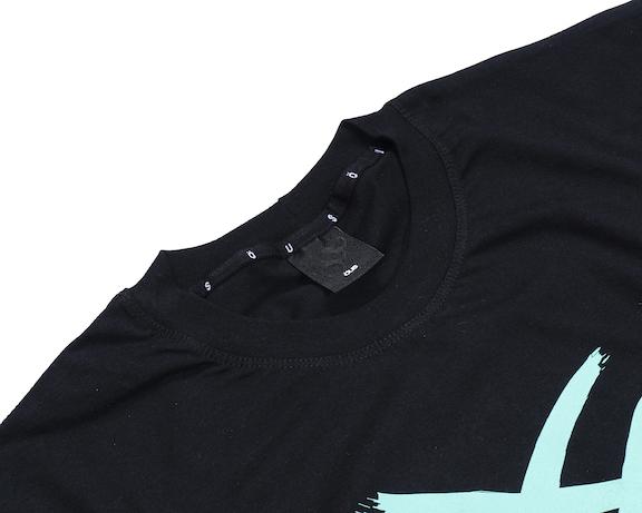 Camiseta Öus Manga Longa Feito a Mão Preto