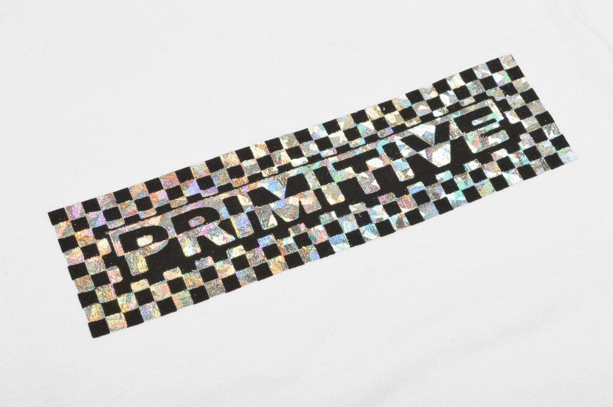 Camiseta Primitive Finish Line Hologram Foil Branca