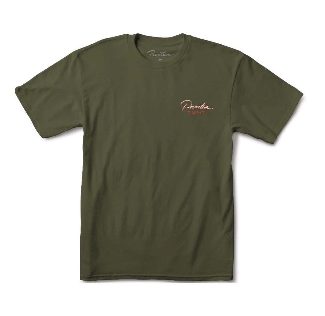 Camiseta Primitive Osaka Military Green
