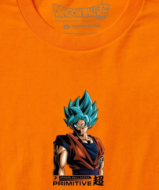 Camiseta Primitive Shadow Goku Orange