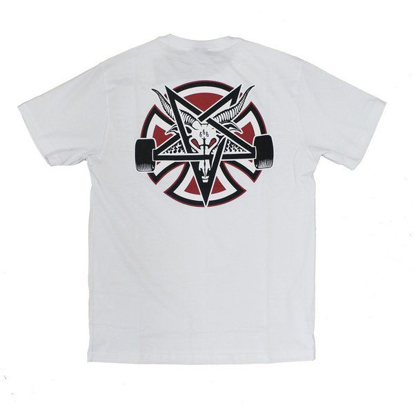 Camiseta Thrasher Collab Independent Pentagrama Branca
