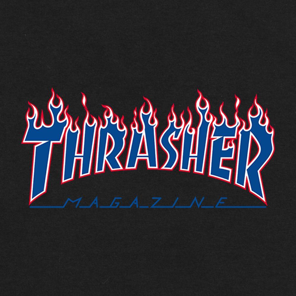 Camiseta Thrasher Flame Patriot Preta