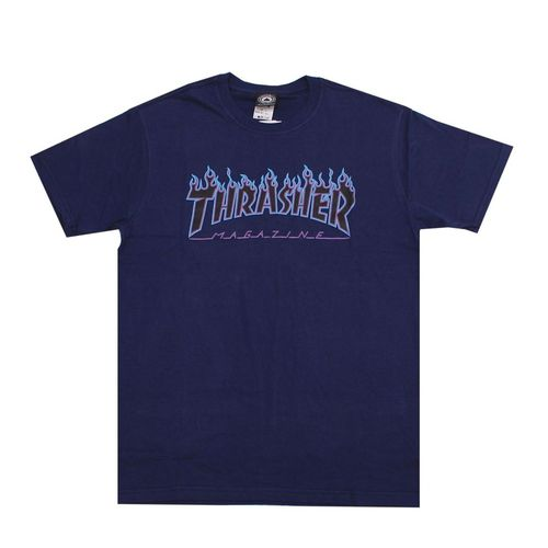 Camiseta Thrasher Flame Purple Marinho