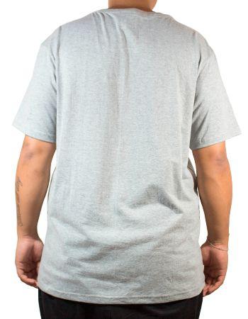 Camiseta Thrasher Outlined Cinza Logo Vermelho