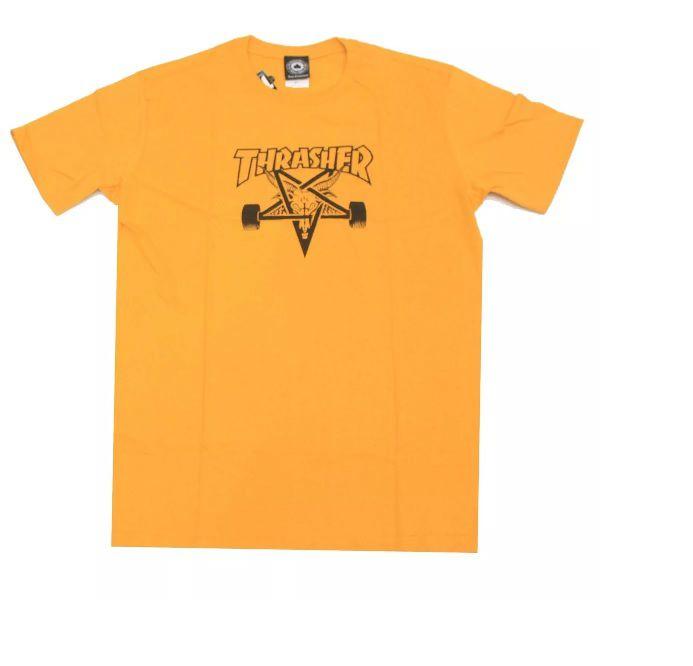 Camiseta Thrasher Pentagrama Skategoat Amarela
