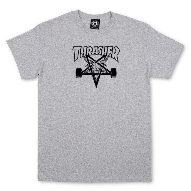 Camiseta Thrasher Pentagrama Skategoat Cinza