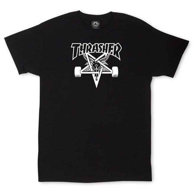Camiseta Thrasher Pentagrama Skategoat Preta