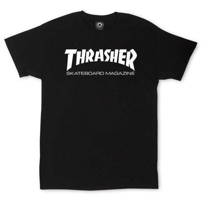 Camiseta Thrasher Skate Mag Preta Logo Branco