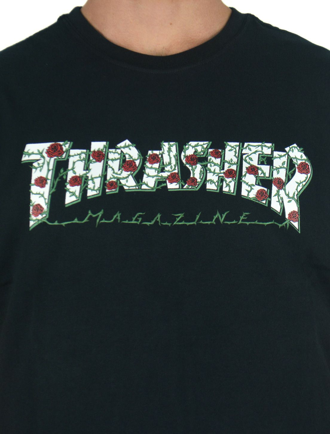 Camiseta Thrasher Skate Mag Roses Preta