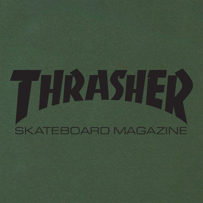 Camiseta Thrasher Skate Mag Verde Logo Preto