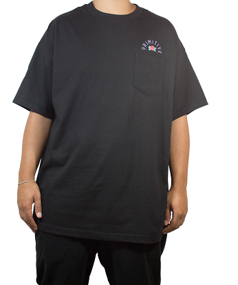 Camiseta Primitive Rose Pocket Preta