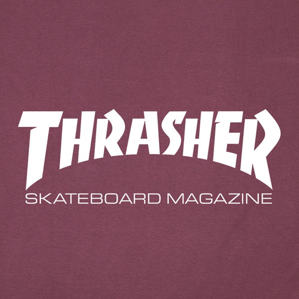 Camiseta Thrasher Skate Mag BordoLogo Branco