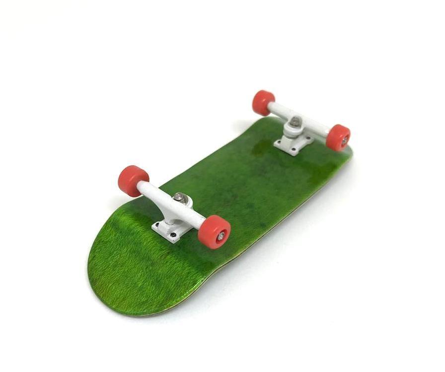 Fingerboard Skate de Dedo 33.5mm Verde/Branco/Vermelho