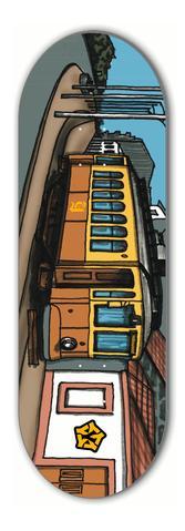 Deck Fingerboard Yellowood 33mm Porto Electric Tram