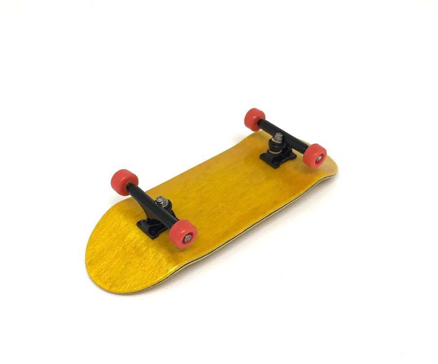 Fingerboard Skate de Dedo 33.5mm Amarelo/Preto/Vermelho