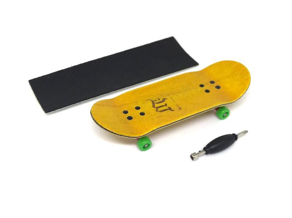 Fingerboard Skate de Dedo 33.5mm Amarelo/Vermelho/Verde