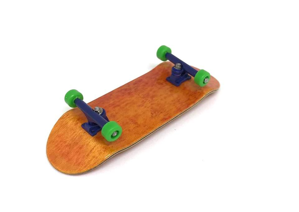 Fingerboard Skate de Dedo 33.5mm Laranja/Azul/Verde