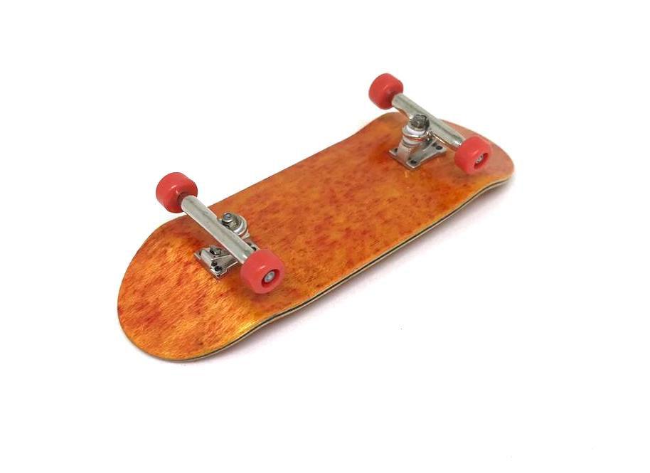 Fingerboard Skate de Dedo 33.5mm Laranja/Prata/Vermelho