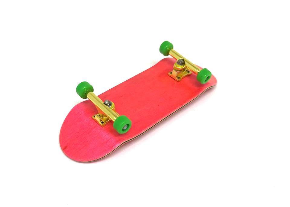 Fingerboard Skate de Dedo 33.5mm Pink/Dourado/Verde