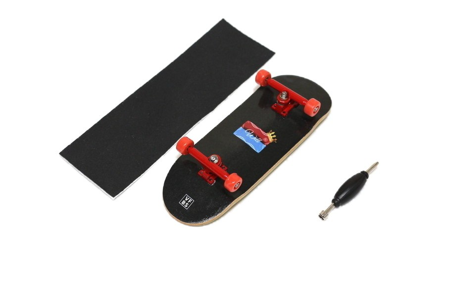 Fingerboard Skate de Dedo 33.5mm Valfb Promodel Max/Vermelho/Vermelho