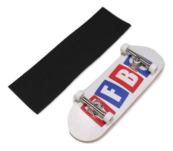 Fingerboard Skate de Dedo 33.5mm Valfb Signature Max #1/Prata/Branco