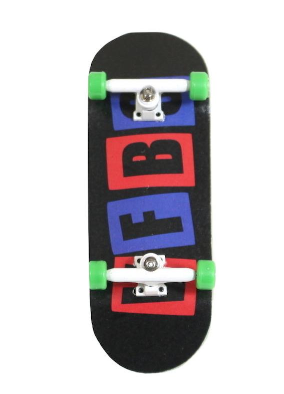 Fingerboard Skate de Dedo 33.5mm Valfb Signature Max #2/Branco/Verde