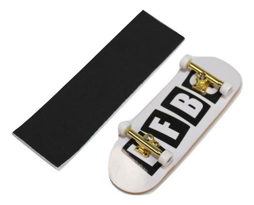 Fingerboard Skate de Dedo 33.5mm Valfb Signature Spadari #2/Dourado/Branco