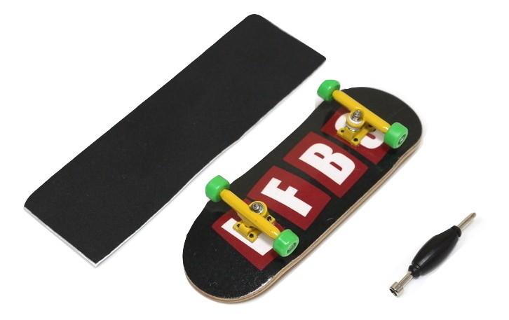 Fingerboard Skate de Dedo 33.5mm Valfb Signature Yamada #2/Amarelo/Verde