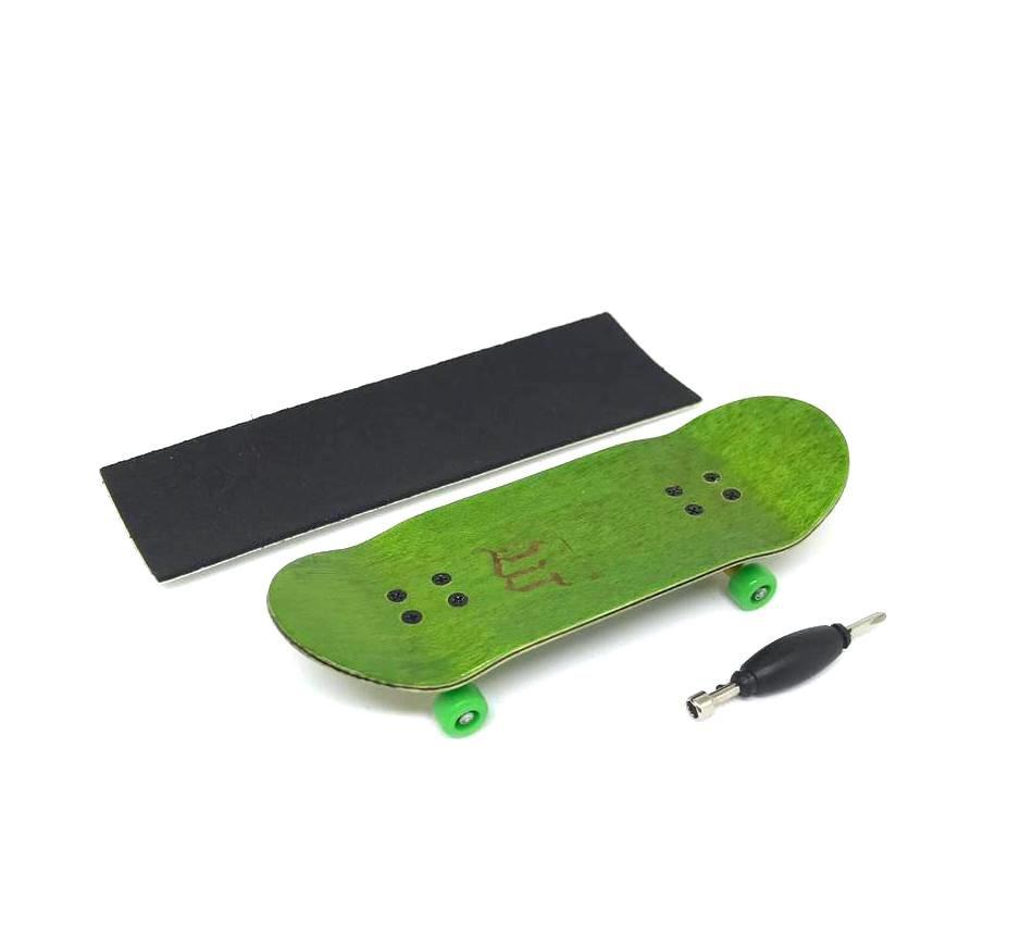 Fingerboard Skate de Dedo 33.5mm Verde/Amarelo/Verde