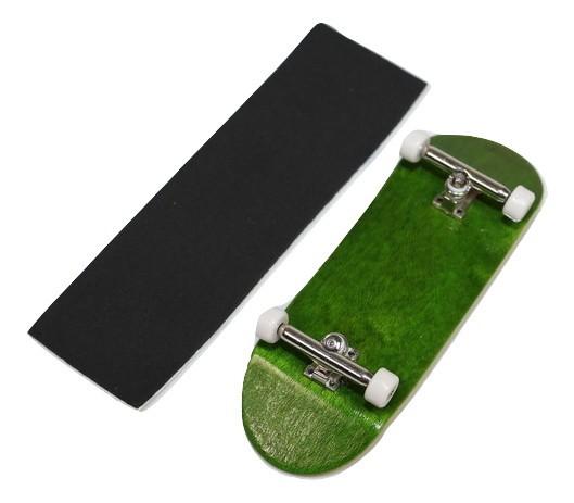 Fingerboard Skate de Dedo 33.5mm Verde/Prata/Branco