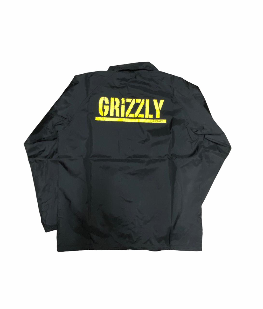 Jaqueta Corta Vento Grizzly sem capuz Bear Preto