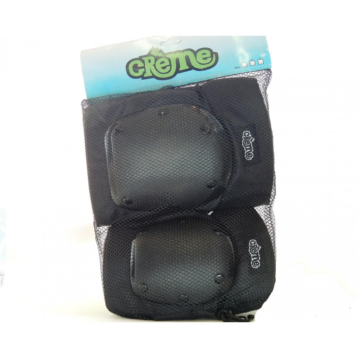 Kit Proteção Skate Creme Cotoveleira + Joelheira