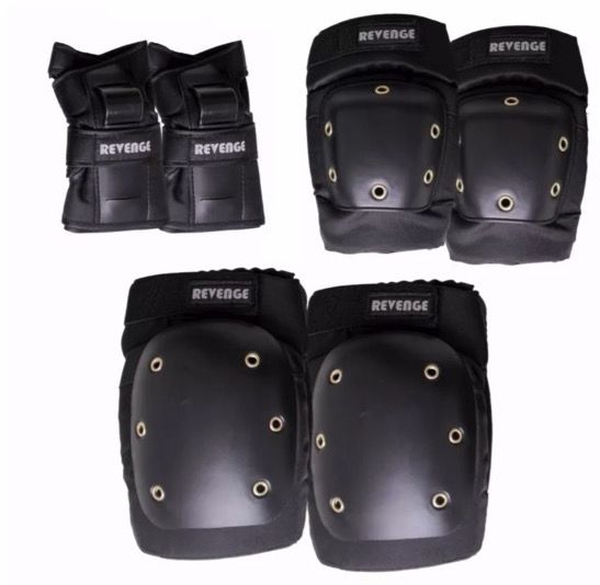 Kit Proteção Skate Revenge
